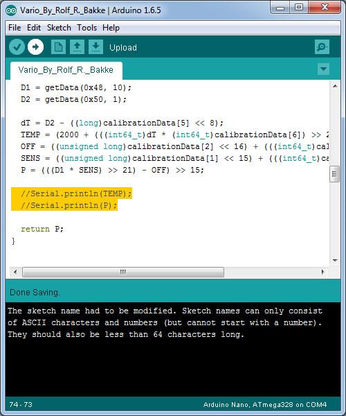 Arduino variometer diy vertical speed indicator
