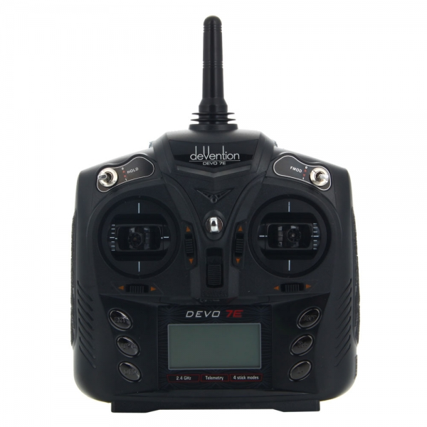 Universal remote for many helicopters and multicopters.